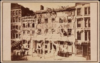 [Ruins of Barnum's Museum.]