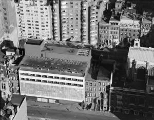 Museum of Modern Art, birds-eye view from 41st floor of Rockefel