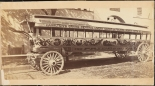 Photograph taken for the John Stephenson Company by unknown photographer. Omnibuses The Pride of the Nation streetcar. ca. 1875. Museum of the City of New York. 44.295.13