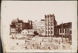 Photograph taken for the John Stephenson Company by unknown  photographer. Factory John Stephenson Company factory at 47 East 27th Street. ca. 1889. Museum of the City of New York. 44.295.453