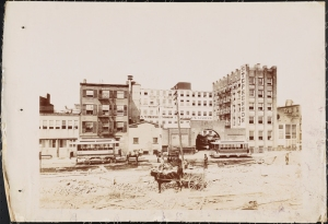 Photograph taken for the John Stephenson Company by unknown photographer. Factory John Stephenson Company Factory at 47 East 27th Street. 1889. Museum of the City of New York. 44.295.454