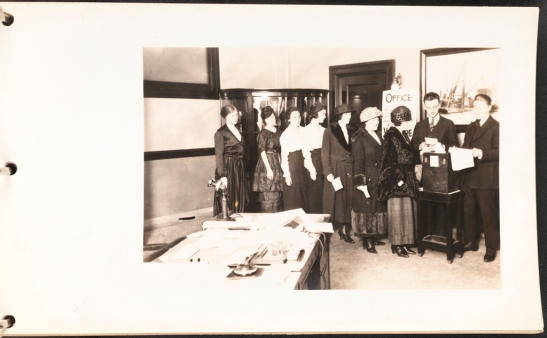 Morse Dry Dock and Repair Company. Morse Dry Dock & Repair Co. Photographs [Women voting in the Main Office.]. 1919. Museum of the City of New York. F2013.132.10.
