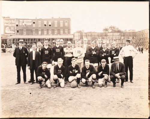 Morse Dry Dock and Repair Company. Employees Association of Morse Dry Dock and Repair Co. [Morse Dry Dock soccer team.]. 1919. Museum of the City of New York. F2013.133.11.