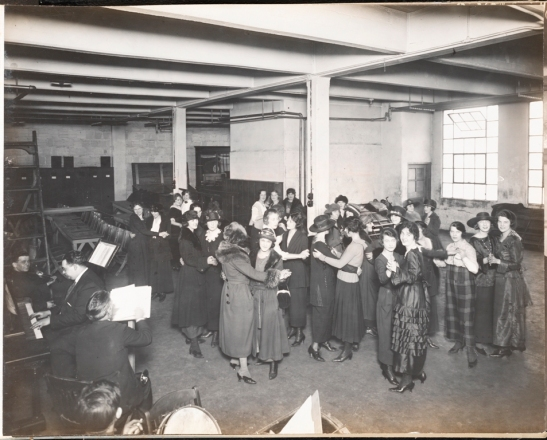 Morse Dry Dock and Repair Company. Employees Association of Morse Dry Dock and Repair Co. [Women dancing at noon hour.]. 1920. Museum of the City of New York. F2013.133.30.