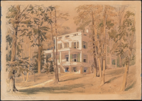 William Rickarby Miller. Residence of J. J. Audubon Esq. 1858. From J. Clarence Davies Collection of the Museum of the City of New York. 34.100.41.