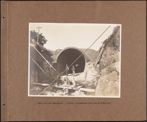 Photographer unknown. New Croton Aqueduct - Typical Horseshoe Section in Open Cut Croton System. 1885-1893. Museum of the City of New York. 42.172.101