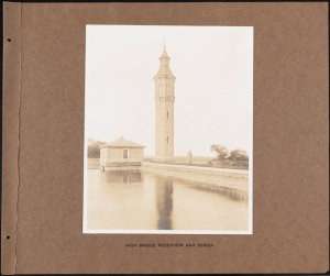 Photographer unknown. High Bridge Reservoir and Tower Croton System. ca. 1880-1895. Museum of the City of New York. 42.172.106