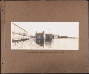 Photographer unknown. New Central Park Reservoir and North Gate Houses Croton System. ca. 1880-1900. Museum of the City of New York. 42.172.113