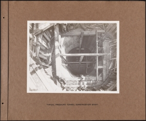 Photographer unknown. Typical Pressure Tunnel Construction Shaft Catskill System. ca. 1912. Museum of the City of New York. 42.172.54