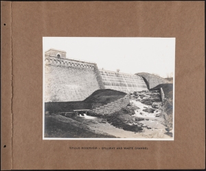 Photographer unknown. Titicus Reservoir - Spillway and Waste Channel Croton System. ca. 1900. Museum of the City of New York. 42.172.86