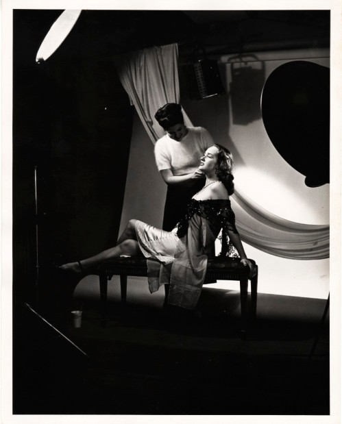 Lucas-Monroe Studio. [Unidentified actress preparing for photo shoot] 1948. 80.103.190