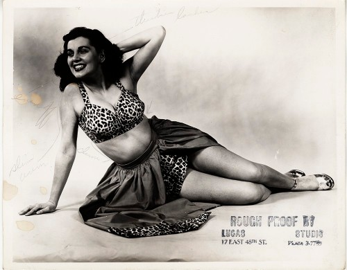 Lucas-Monroe Studio. [Rough proof of unidentified showgirl from As the Girls Go] 1948. 80.103.192