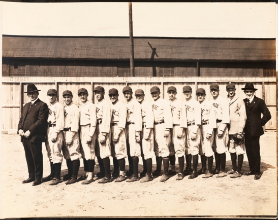 Morse Dry Dock and Repair Company. Employees Association of Morse Dry Dock and Repair Co. [Morse Dry Dock baseball team at Morse Oval.]. 1919. Museum of the City of New York. F2013.133.9.