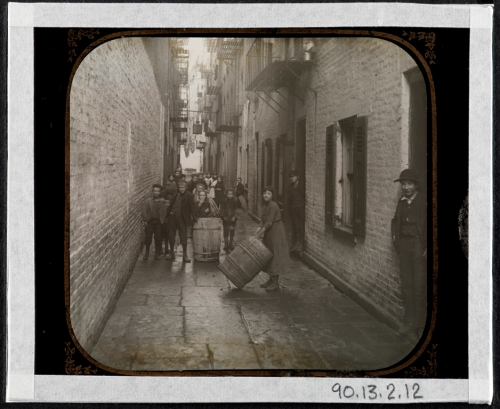 Jacob A. (Jacob August) Riis (1849-1914). Gotham Court, 38 Cherry Street -- Double and Single Alley. ca. 1890. Museum of the City of New York. 90.13.2.12.