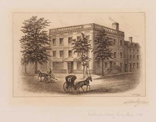 Samuel Hollyer (1826-1919). Washington's House, Cherry Street, 1788.  1901. Museum of the City of New York. X2011.5.38.