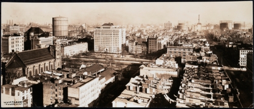 Wurts Bros. (New York, N.Y.) Elevated view of Stuyvesant Square and surrounding neighborhoods. ca. 1920-1935. Museum of the City of New York. X2010.7.2.23509.