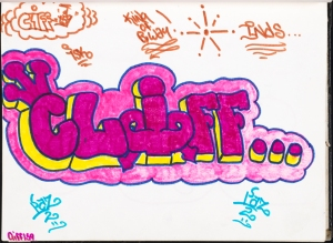 Clifford (Cliff 159) Brown. Cliff... Page in Chi Chi 133's black book. ca. 1975. Museum of the City of New York. 94.114.266.30