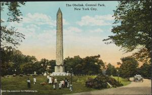 Cleopatra's Needle in Central Park on a postcard published in 1917 by American Art Publishing Company, MCNY F2011.33.940.