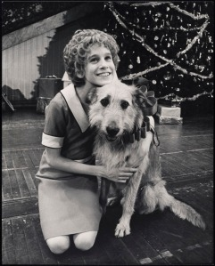 Sarah Jessica Parker as Annie with Sandy the dog in Martin Charnin's Annie. Museum of the City of New York, 79.56.5.