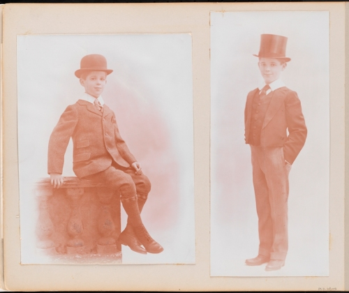 Unknown photographers, The first six years of William B. Leeds [Two portraits of William B. Leeds.] ca. 1909. Museum of the City of New York. 89.3.1.48.