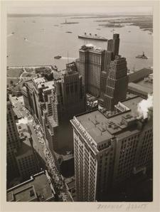 Berenice Abbott (1898-1991). Broadway to the Battery, May 4, 1938. Museum of the City of New York. 40.140.16