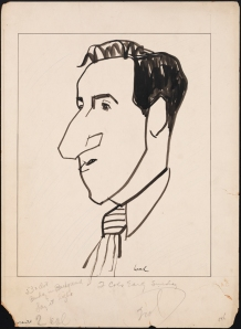William Auerbach-Levy. Jimmy Durante. 1925-1950. Museum of the City of New York. 64.100.145