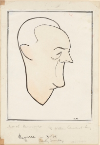 William Auerbach-Levy. Lionel Barrymore. ca. 1925. Museum of the City of New York. 64.100.1670