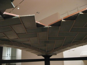 The completed ceiling. Unlike the edges of this model, which consist of five layers of tile, the vaulted ceiling consists of only three, allowing the viewer to comprehend the structure.