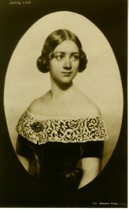 Jenny Lind postcard, ca 1860.  William J. Hildebrand Collection on Jenny Lind.  Museum of the City of New York. 40.280.768