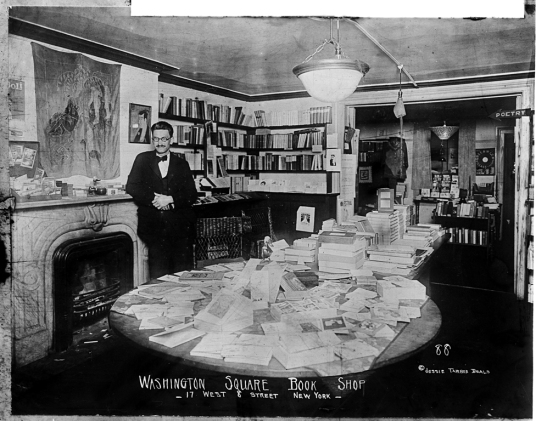Jessie Tarbox Beals. Washington Square Bookshop, 17 West 8th Street. ca. 1910. Museum of the City of New York. 91.53.19.