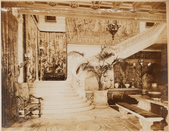 Unknown photographer. [William C. Whitney Residence. 68th St. & 5th Ave., N.Y.C. Entrance hall.] ca. 1915-1930. Museum of the City of New York. X2013.139.71A