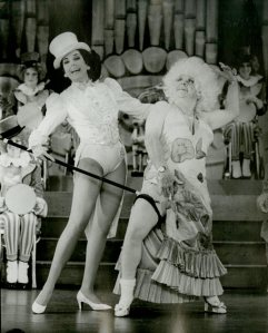 Mickey Rooney in drag for the musical revue Sugar Babies, 1979. From the Theater Collection, The Museum of the City of New York. 85.58.2.
