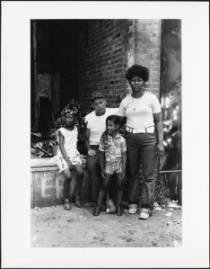 Candido with neighborhood kids, Mel Rosenthal, 1976-1982. Museum of the City of New York. 2013.12.27