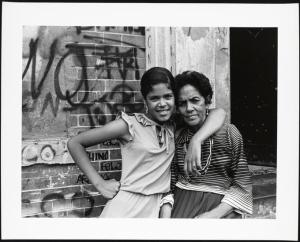 Among the Last Residents, Mother and daughter, East 173rd Street, Mel Rosenthal, 1976-1982. Museum of the City of New York, 2013.12.34