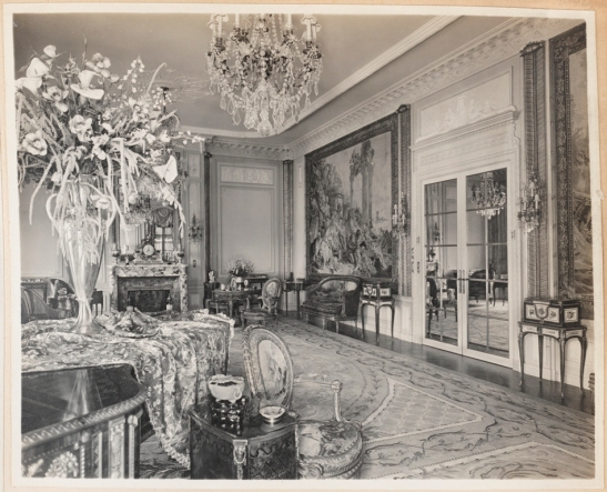 Unknown photographer. Mrs. E. F. Hutton. Drawing room. ca. 1915-1930. Museum of the City of New York. X2013.139.391A.