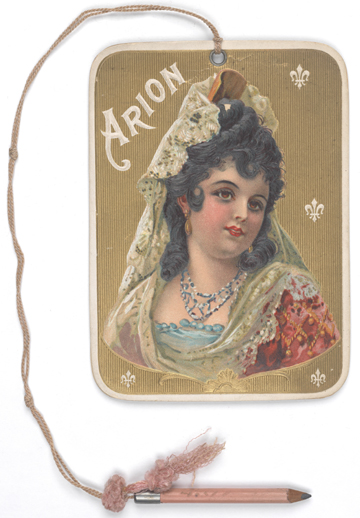 Dance card for Arion Masquerade Ball, 1904, in the Collection on Social Events.  Museum of the City of New York, 40.279.7.