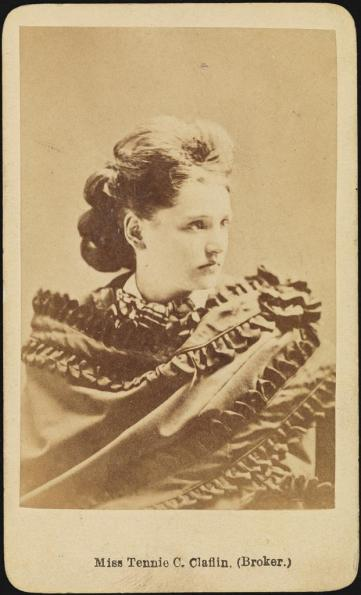 Unknown photographer. Miss Tennie C. Claflin (Broker). ca. 1875. Museum of the City of New York. 41.366.53.