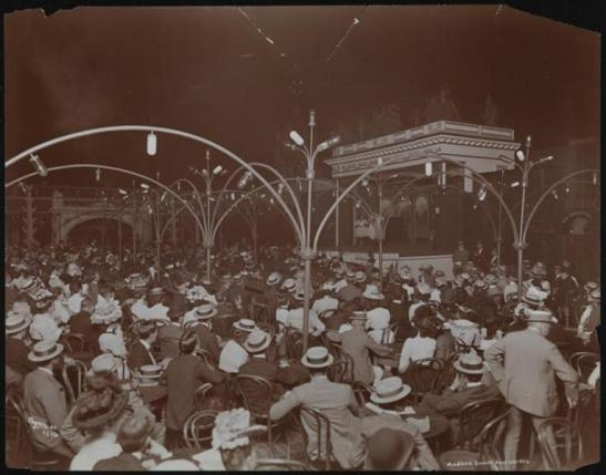 Byron Company (New York, N.Y.) [Roof Garden, Madison Square Garden Theatre.] ca. 1900.