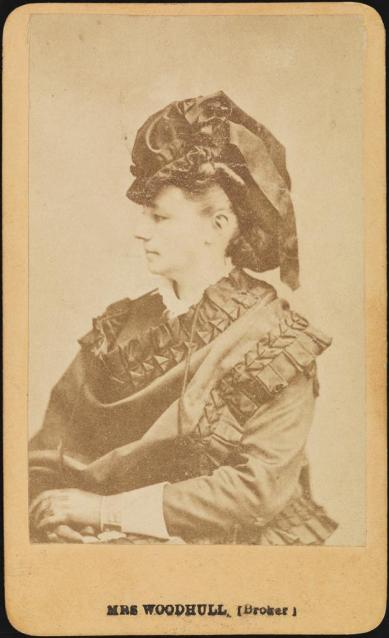 Unknown photographer. Mrs. Woodhull (Broker). Museum of the city of New York.  F2012.58.41.