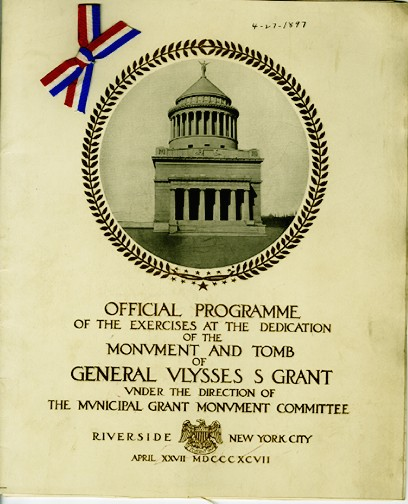 Program for the Dedication of Grant's Tomb, 1897, in the Collection on Civic Events.  Museum of the City of New York.