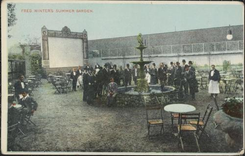 "Postcard. ""Fred Winter's Summer Garden, Brooklyn, New York."" Charles Stock & Co. Litho., ca. 1910."