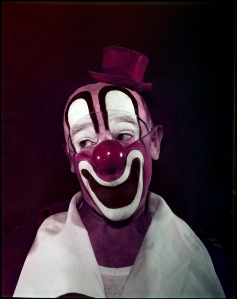 Stanley Kubrick for Look magazine. Circus Story: Clown. 1948. Museum of the City of New York. X2011.4.11376.1