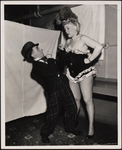 """Photo Ideas Inc. Bobby Barry as Bozo and Gail Garber as Gussie in """"Burlesque"""". 1946-1948. Museum of the City of New York. 49.98.10"""