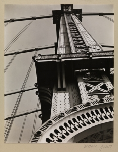 Berenice Abbott (1898-1991). Manhattan Bridge, Looking Up, 1936. Museum of the City of New York, 49.282.115.