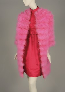 "Geoffrey Beene (1924-2004).  Evening ensemble, ""American Beauty Rose,"" 1967.  Museum of the City of New York, 67.131AB."