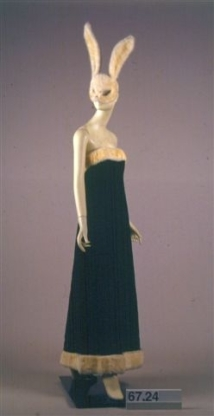 Halston (1932-1990). Evening dress and mask, 1966.  Museum of the City of New York, 67.24AB.