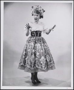 "Photographer unknown. Elaine Stritch as Mrs. Sally Adams in ""Call Me Madam"". ca. 1952. Museum of the City of New York. 68.80.4786"
