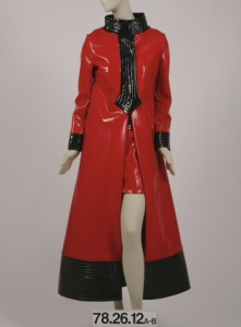 Pierre Cardin (b. 1922). Coat and skirt ensemble, ca. 1969.