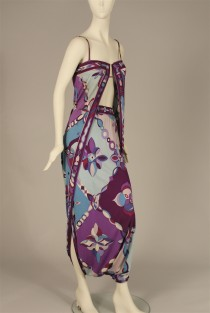 Emilio Pucci (1914-1992) for Saks Fifth Avenue.  EVening costume, mid 1960s. Museum of the City of New York, 95.148.3.
