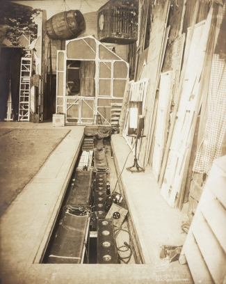 "Stage equipment for ""Chantecler"", 1911. From the Theater Collection. Museum of the City of New York, 48.367.77."